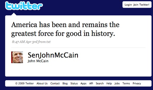 Twitter   John Mccain  America Has Been And Remai ...-1